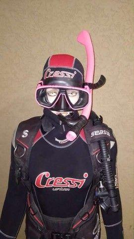 Equipamento de mergulho feminino  - Foto 4