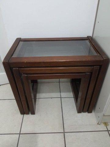Conjunto três mesas apoio - Foto 6