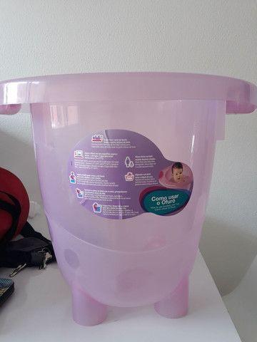 Bebê conforto e ofurô cor de rosa - Foto 4
