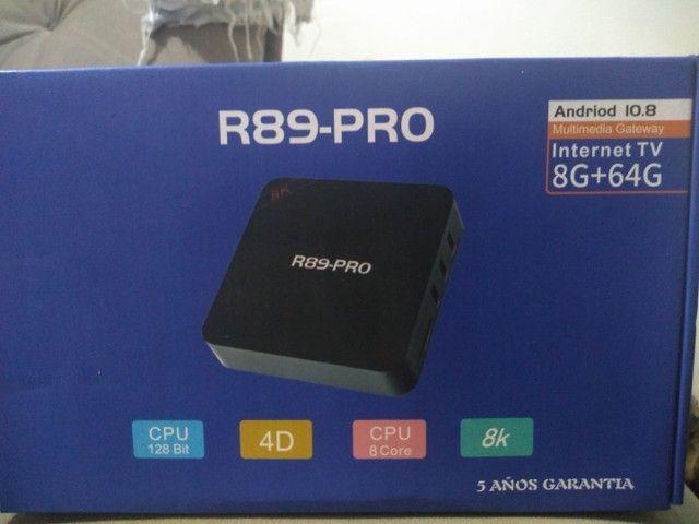Tv box 8gb de ram 64 gb ROM de qualidade