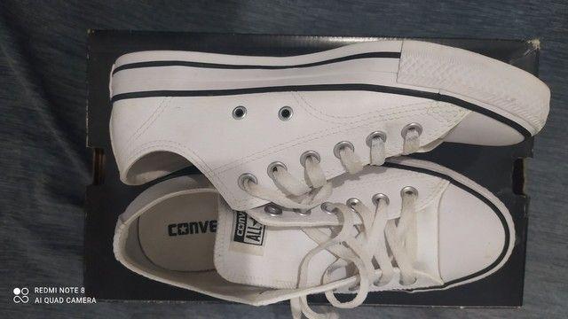Tênis Converse All star 36 branco de Couro Original