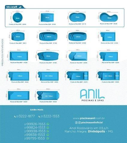 LS - Lazer em família -piscina de fibra 5,60 x 2,90 x 1,10 - Foto 5