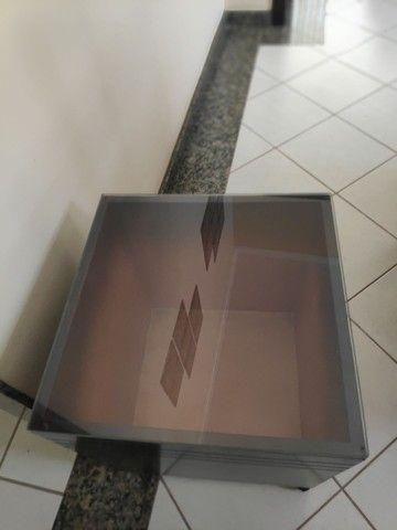 Cachapot quadrado de madeira (acompanha vidro) - Foto 5