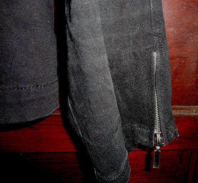 Casaco feminino preto em sarja estilo perfecto - Foto 5