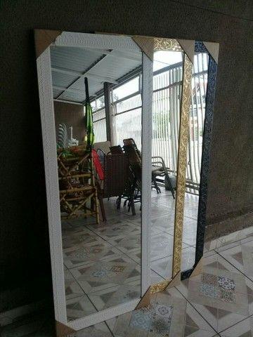 Espelho novos grande com moldura