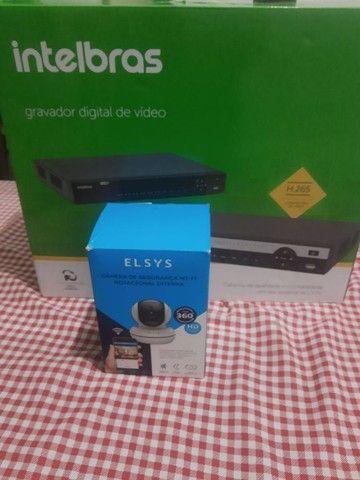 DVR Intelbras 32 canais com HD de 1tera mais câmera ELSYS - Foto 4