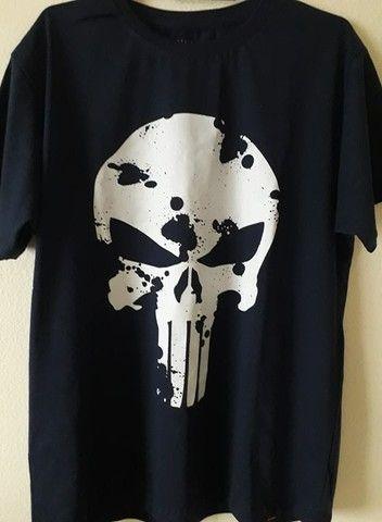Camiseta Justiceiro Nova. Entrego na ilha ou centro Grátis. Aceito cartão - Foto 2