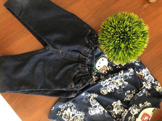 Look blusinha e calça  - Foto 2