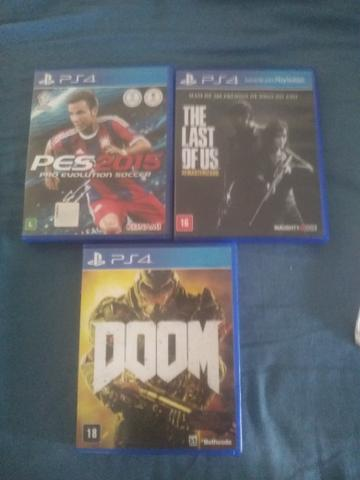 Vendo jogos PS4 The last of us, Doom
