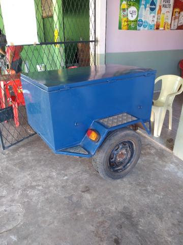 Vendo Reboque pra moto ou carro em excelente estado de conservação, seminovo!!! - Foto 2