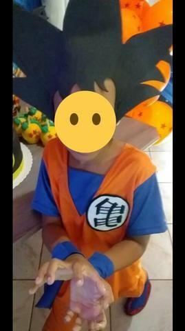 Fantasia do goku veste de 7 a10 anos *dragon ball Z - Foto 2