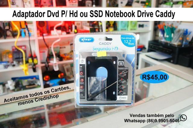 Adaptador Caddy para SSD notebook
