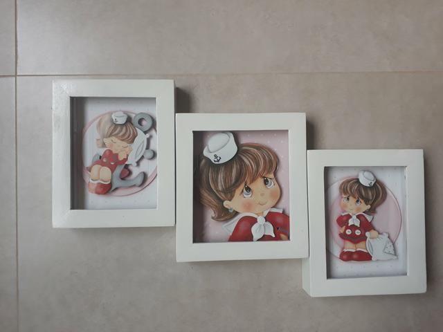 Trio de quadros marinheira