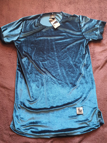 Camisas longline veludo  - Foto 4