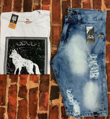 Kit masculino camiseta & bermuda - Foto 5