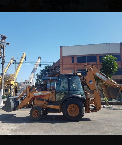 Retro Escavadeira Case 580n 4x4 - Foto 5