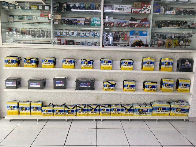 Bateria moura 40ah garantia 18meses a base de troca  - Foto 4