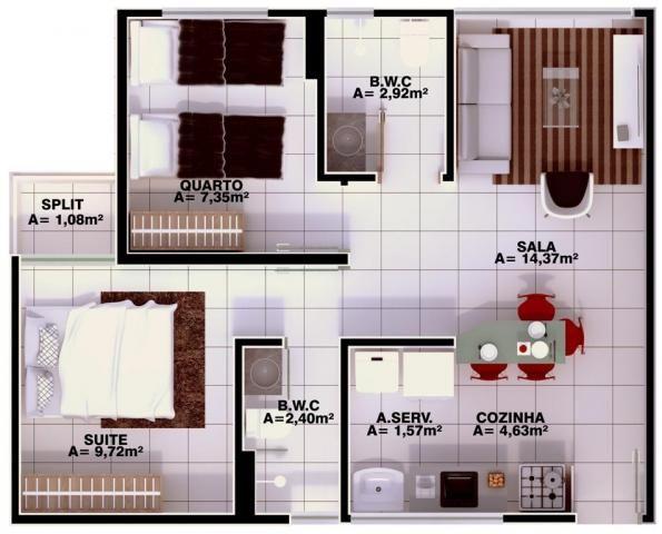 Apartamento à venda, 3 quartos, 1 suíte, 1 vaga, Uruguai - Teresina/PI - Foto 12