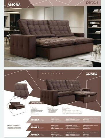 Sofazão com Pillow de 20cm Altura (Retrátil/Reclinável)