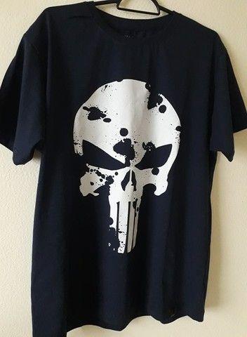 Camiseta Justiceiro Nova. Entrego na ilha ou centro Grátis. Aceito cartão