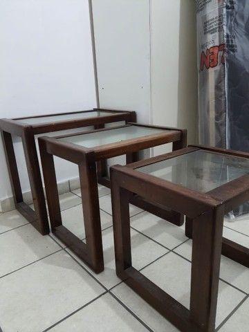 Conjunto três mesas apoio - Foto 2