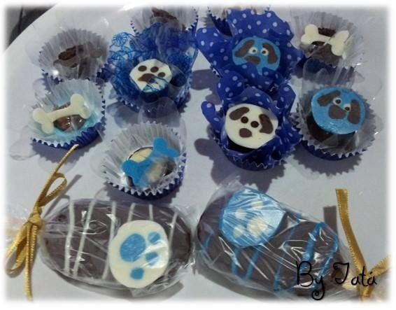trufas e cup cakes