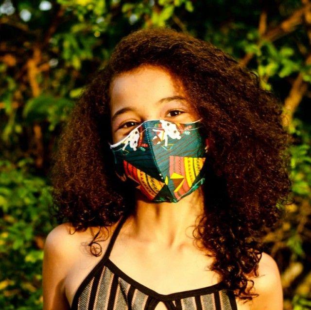 Máscaras 100% algodão camada dupla - Foto 5