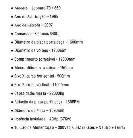 Torno CNC  1700 mm x 12000 mm - Foto 2