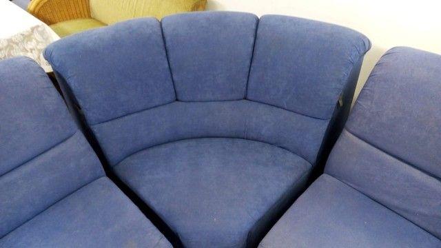 Sofá de Canto Azul - Foto 3