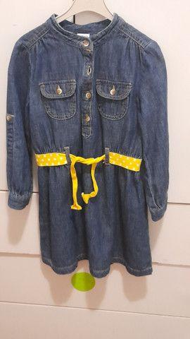 Vestido infantil jeans importado marca carter's - Foto 2