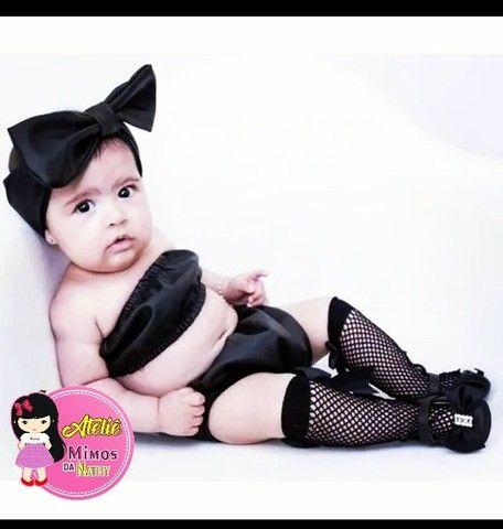 Meia arrastao infantil - Foto 2