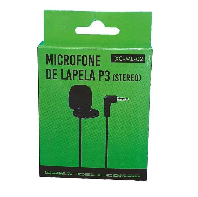 Microfone de lapela plug P3 - Foto 2