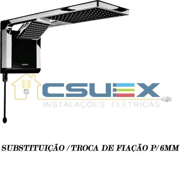 Troca / Substituição De Fiação De Chuveiro 6800w+ / 8800w 6mm