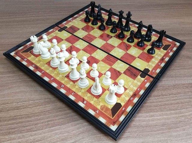Jogo de xadrez magnético com 32 peças magnético - Foto 6