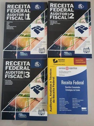 80% desconto - Box 6 Livros Concurso Auditor Fiscal Receita Federal