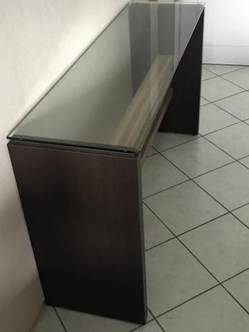 Aparador/bancada em MDF e vidro transparente 12mm - Foto 2