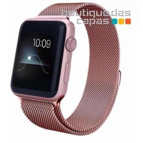 Pulseira Apple Watch Milanês Loop Magnética - 38mm / 42mm / 40mm / 44mm - Foto 2