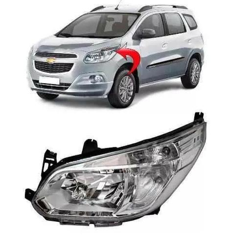 Farol Cromado Chevrolet Spin 2013 2014 2015 2016 Esquerdo