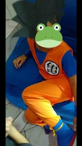 Fantasia do goku veste de 7 a10 anos *dragon ball Z - Foto 4
