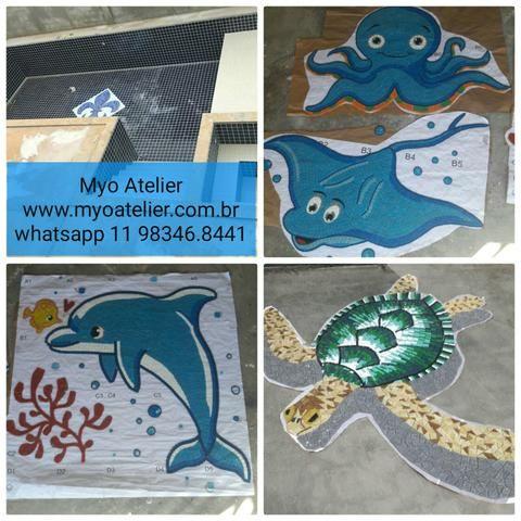 Golfinho mosaico piscina - Foto 3