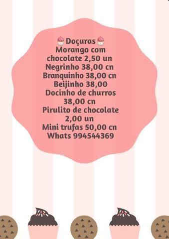 Kits 95,00 Bolo+Docinhos+ salgadinhos