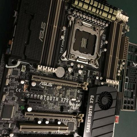 Kit Intel 4930K + Placa mãe Asus Sabertooth X79 + Memória Corsair Vengeance 2x8