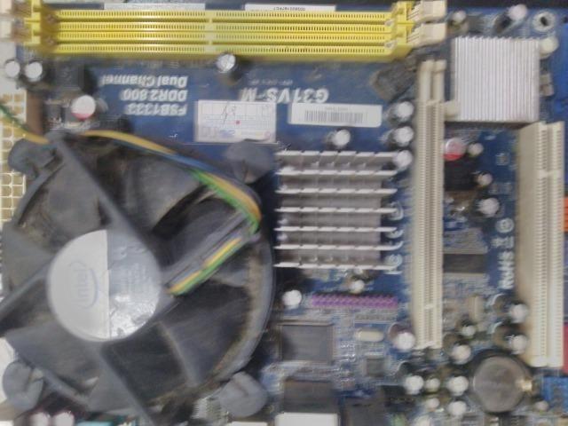 Placa mãe LGA 775 G31VS-M funcionando Aceito Cartão
