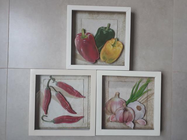 Trio de Quadros arte francesa para cozinha - Foto 3