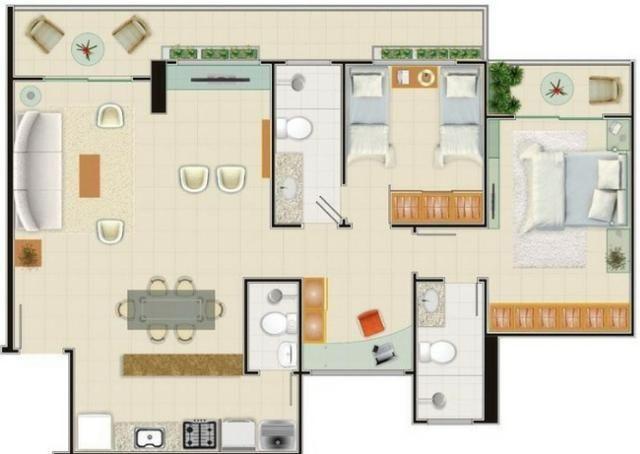 AP0357 - Apartamento 3 quartos, 84m² - Parquelândia - Fortaleza/CE - Foto 13
