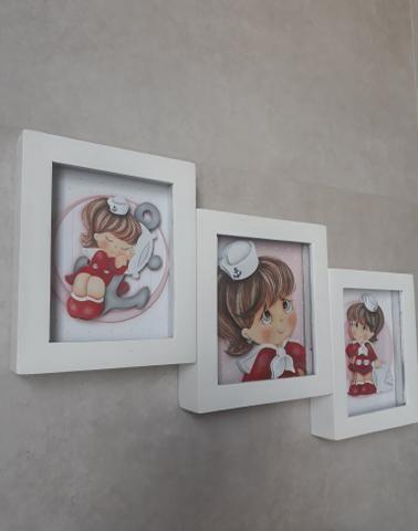 Trio de quadros marinheira - Foto 3
