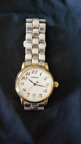 d363782c47b Relógio Montblanc aço e ouro Original - Bijouterias