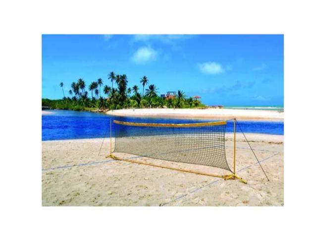 Kit Multi Sports Rede Volei Praia Campo Piscina Klopf 4011 - Foto 2