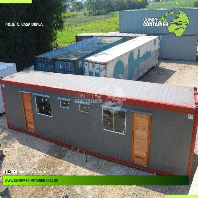Casa dupla 30m² em container - Ideal para alugueis
