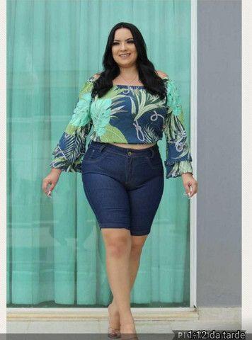 Short jeans plus size - Foto 5